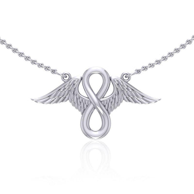Angel Wings with Infinity Sterling Silver Necklace TNC445 Necklace