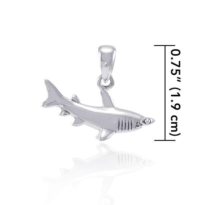 Explore the sea and start the journey ~ Sterling Silver Jewelry Hammerhead Shark Pendant TP2672