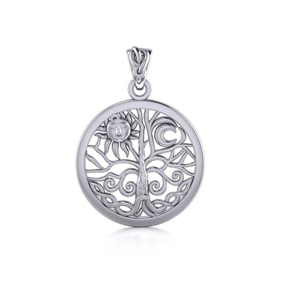 Pagan & Wicca Tree of Life Silver Pendant TP3109