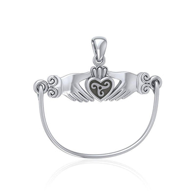 You hold my heart ~ Celtic Triquetra Claddagh Charm Holder Pendant TP942 Pendant