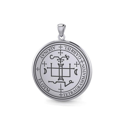 Sigil of the Archangel Gabriel Sterling Silver Pendant TPD2819 Pendant
