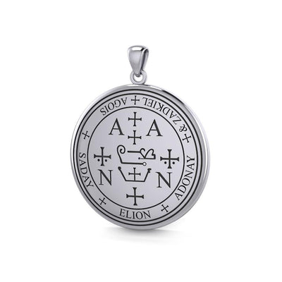 Sigil of the Archangel Zadkiel Sterling Silver Pendant TPD2821 Pendant