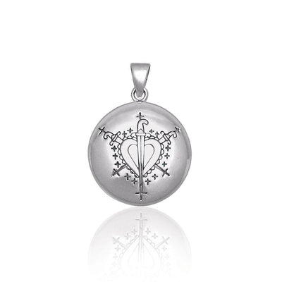 A Masterpiece of Ezili Dantor Veve ~ Sterling Silver Jewelry Pendant TPD2826 Pendant