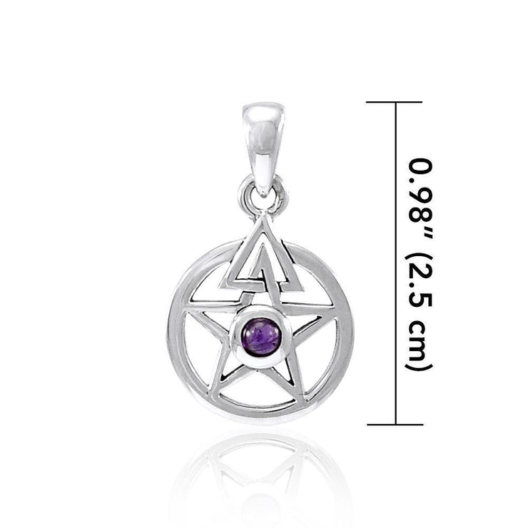 Centered energy in a The Star ~ Sterling Silver Jewelry Pendant TPD4296 Pendant