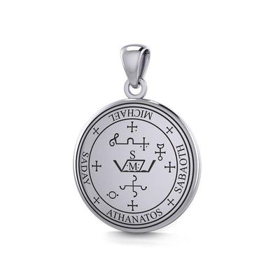 Sigil of the Archangel Michael Sterling Silver Small Pendant TPD4573