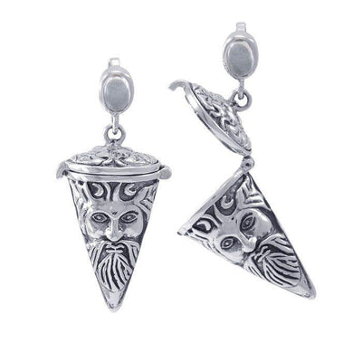 Green Man Pendulum Spell Sterling Silver Pendant TPD4731 Pendant