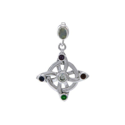 Elemental Witches Knot Sterling Silver Pendant TPD4751