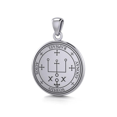Sigil of the Archangel Raphael Small Sterling Silver Pendant TPD4784 Pendant