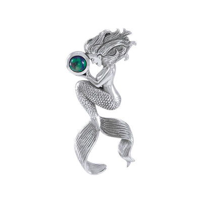 Mermaids Oracle Sterling Silver With Gemstone Pendant TPD4897 Pendant