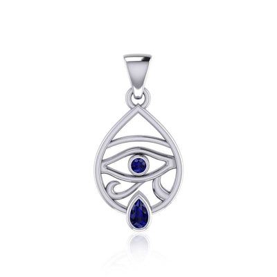 Eye of Horus Silver Pendant with Gemstone TPD5052 Pendant