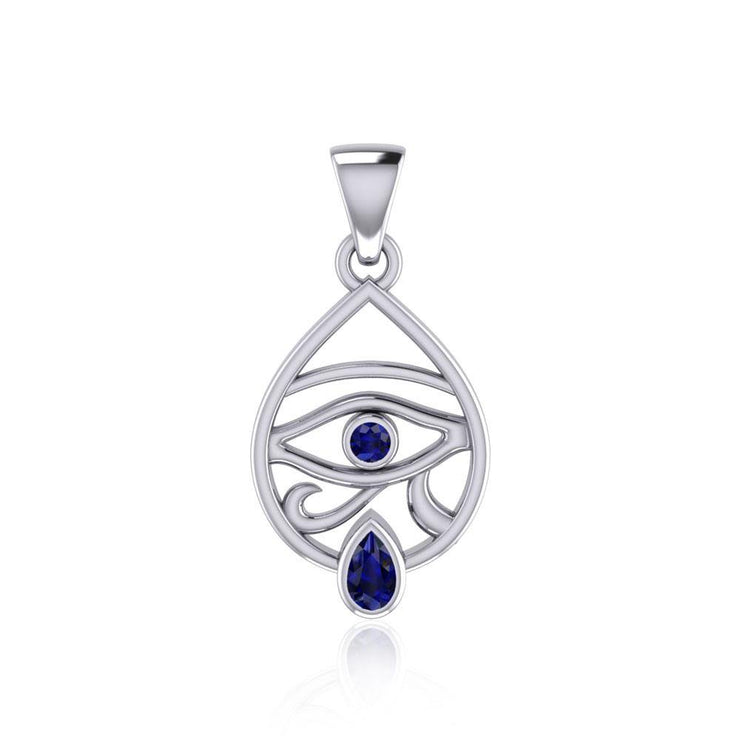 Eye of Horus Silver Pendant with Gemstone TPD5052