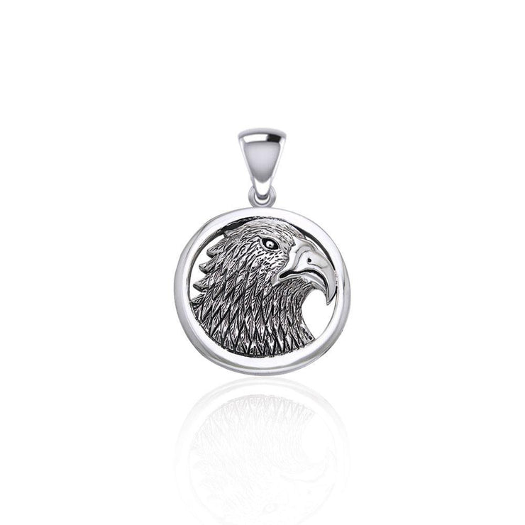 Eagle Head Sterling Silver Pendant TPD5058