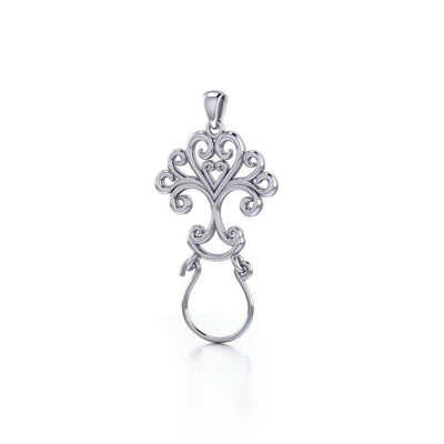 Celebrate Life with the Tree of Life Silver Charm Holder Pendant TPD5084 Pendant