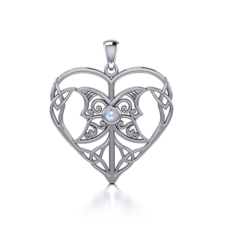 Celtic Triple Goddess Love Peace Sterling Silver Pendant with Gemstone TPD5105 Pendant