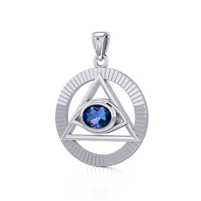 Eye of The Pyramid Silver Pendant TPD5297