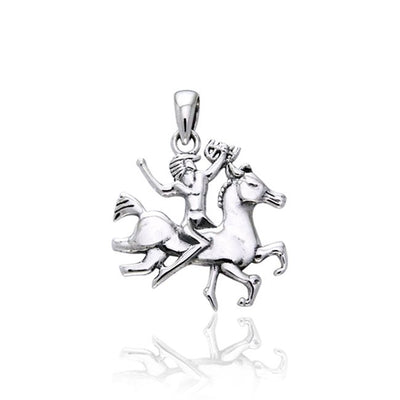 Viking Warrior Queen Silver Pendant TPD971