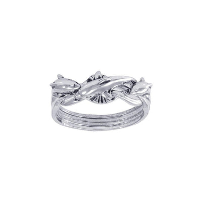 Dolphin Puzzle Ring TR1339