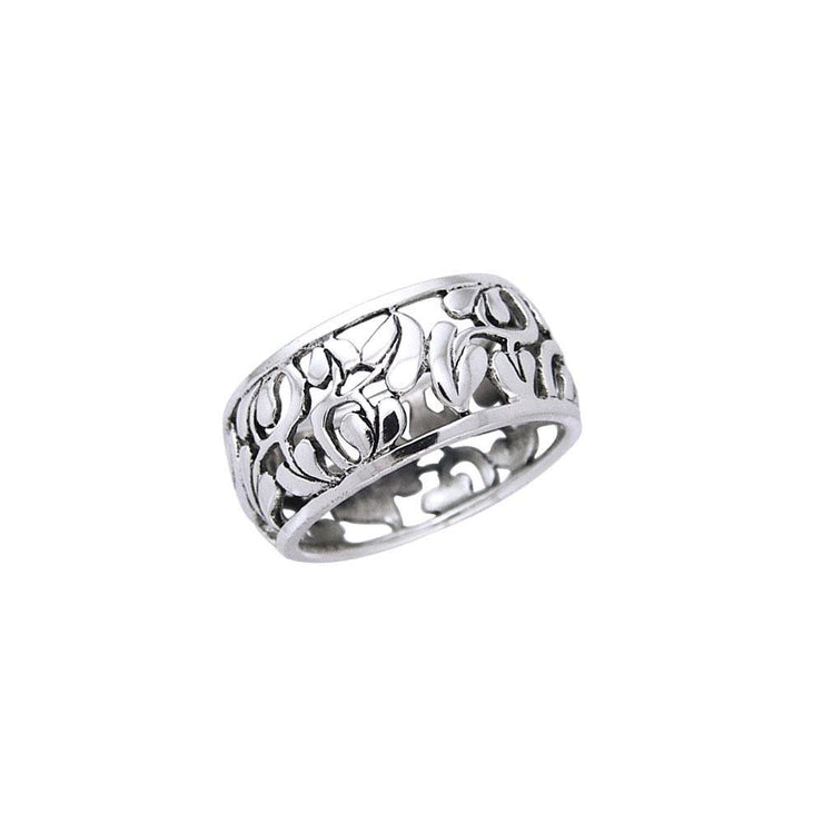 Filigree Flower Silver Ring TR1549
