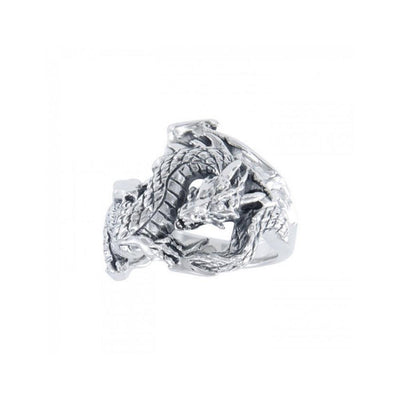 Fantasy Dragon Silver Ring TR1600