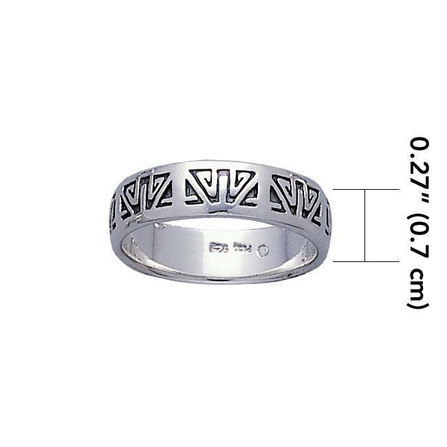 Engraved Silver Ring TR3427 Ring