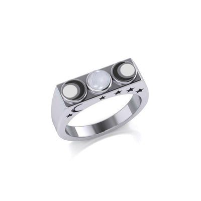 Triple Moon Goddess Ring TR3704