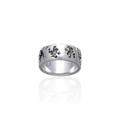 Silver Frog Sterling Silver Ring TR896