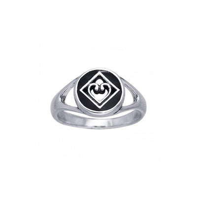 NA Heart in Recovery Silver Ring TRI098