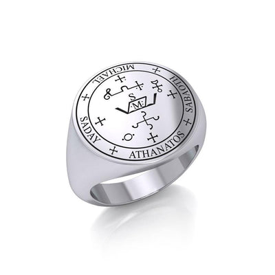 Sigil of the Archangel Michael Sterling Silver Ring TRI1202 Ring
