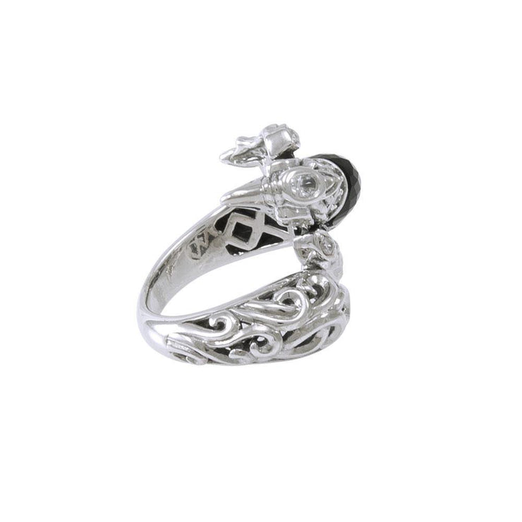 Flying Phoenix Silver Ring with Gemstone TRI1233