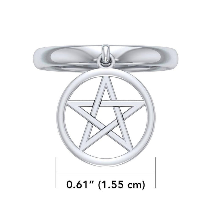 Dangling The Star Sterling Silver Ring TRI1530 Ring