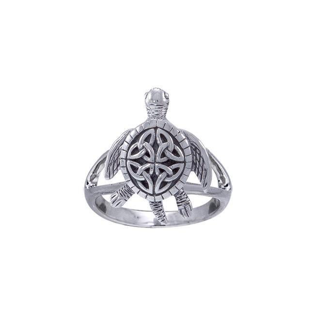 Celtic Sea Turtle Ring TRI1532