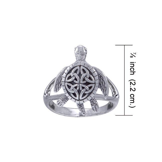 Celtic Sea Turtle Ring TRI1532 Ring