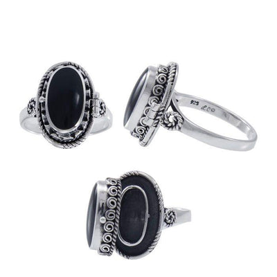 Spell Sterling Silver Ring with Black Obsidian TRI1555 Ring
