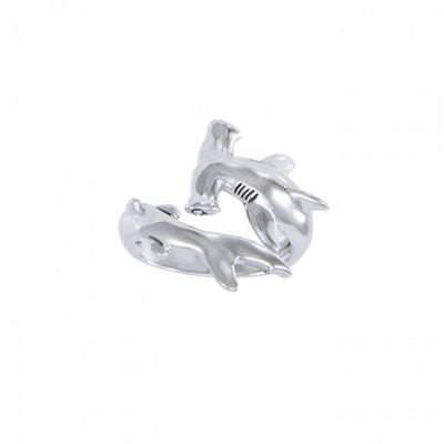 Independently strong hammerhead shark ~ Sterling Silver Jewelry Ring TRI1614