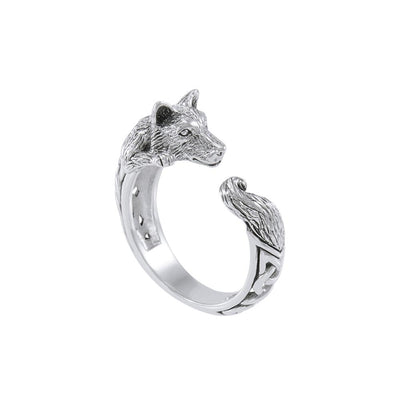 Sterling Silver Celtic Wolf Ring TRI1636 Ring