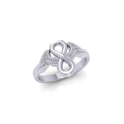 Angel Wings with Infinity Sterling Silver Ring TRI1711 Ring