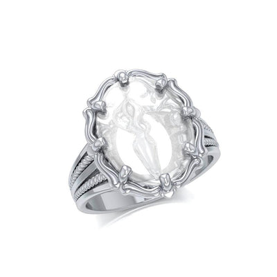 Goddess Sterling Silver Ring with Natural Clear Quartz TRI1722