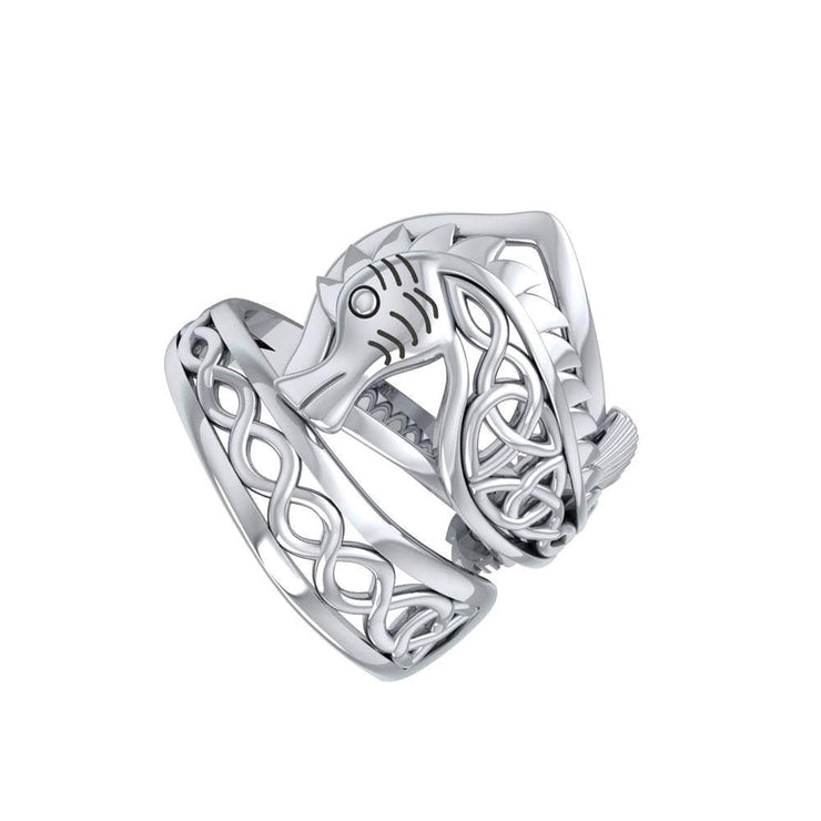 An anomaly of nature ~ Celtic Knotwork Seahorse Sterling Silver Spoon Ring TRI1737 Ring