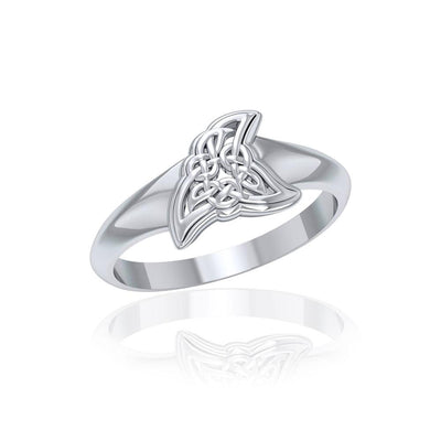 Celtic Shark Fin Silver Ring TRI1763 Ring