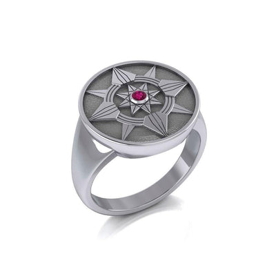 Be a Star Sterling Silver Ring with Gemstone TRI625 Ring