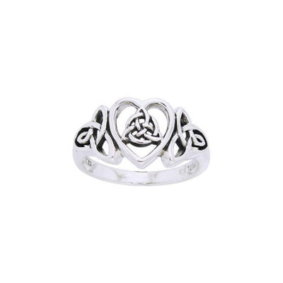 Celtic Trinity Heart Ring TRI873