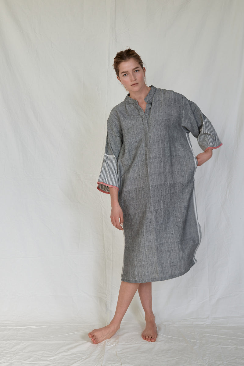 charcoal tribeca long sleeve maxi kaftan