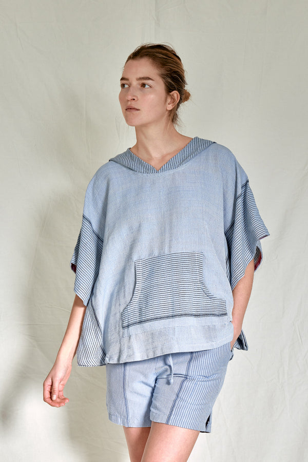denim wash tribeca poncho