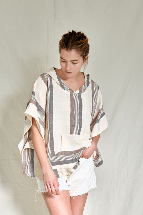 brown cream hudson poncho