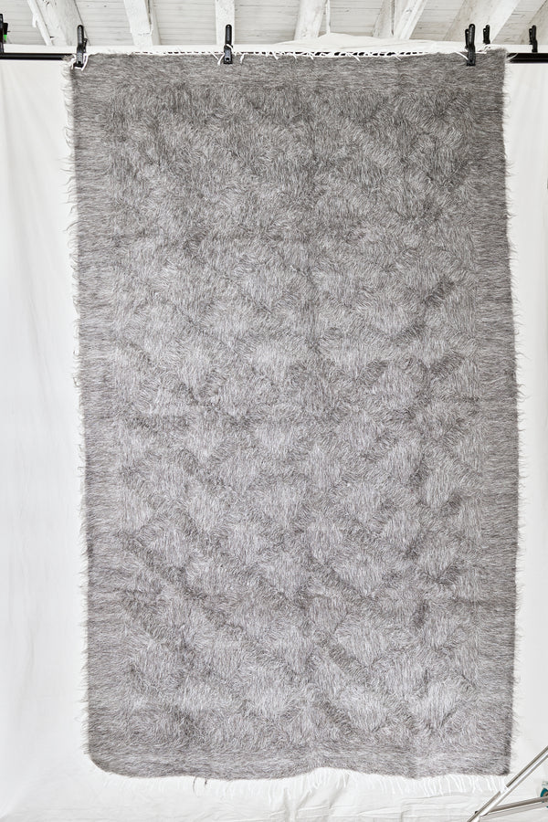 Steel Grey Mohair Rug