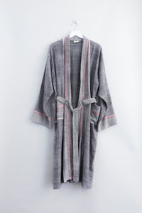 charcoal tribeca long bathrobe