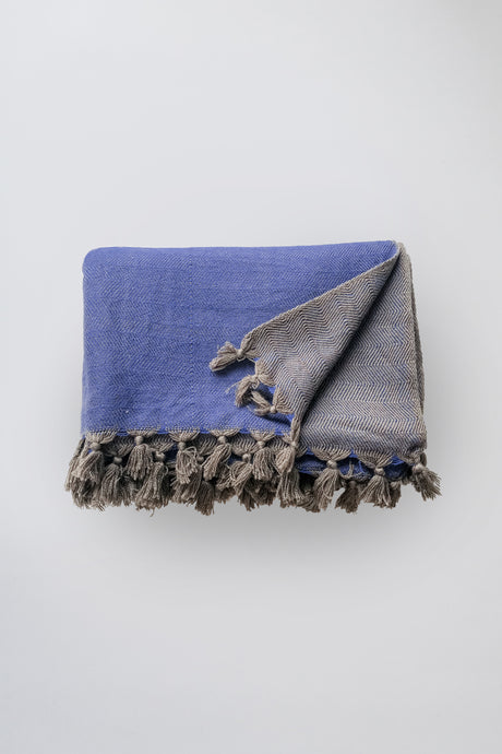blue london wool blanket