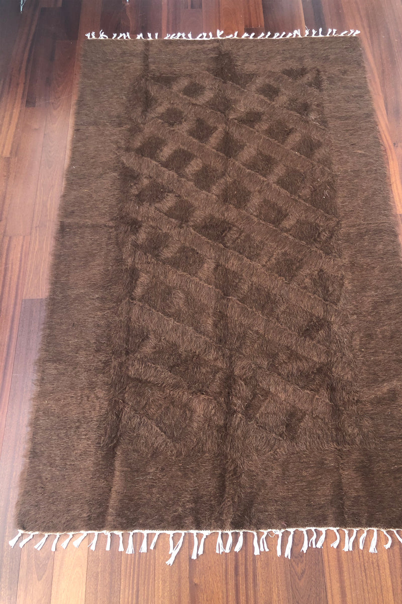 chocolate mohair rug