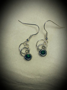 Deep rich green earrings