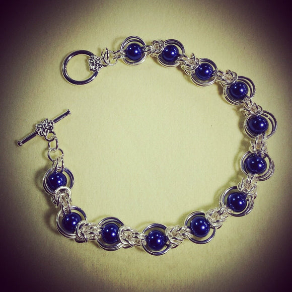 Blue 'Pearl' Orbit Bracelet